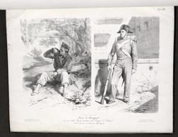 Uniformi E. Gamba - Corso Disegno Paesaggio E Figura Scuole Militari 1865 RARO - Documenti