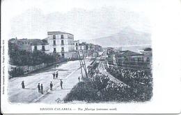 112352 ITALY REGGIO CALABRIA AVENUE MARINA POSTAL POSTCARD - Italia