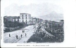 112352 ITALY REGGIO CALABRIA AVENUE MARINA POSTAL POSTCARD - Italië