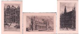 Belgique, Bruxelles, Eau Forte (Ed. Devard, 3x 95) - Monuments