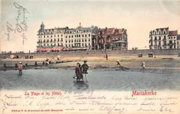 MARIAKERKE BELGIUM~la PLAGE Et Les HOTELS 1903 PHOTO POSTCARD 40657 - Oostende