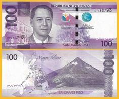 Philippines 100 Piso P-222a 2015A UNC Banknote - Filippijnen