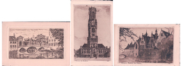 Belgique, Bruges, Eau Forte (3x 96) - Brugge
