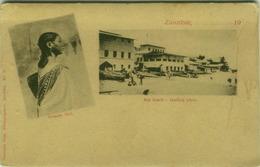 TANZANIA - ZANZIBAR - SEA BEACH / COMORO GIRL - PHOTO COUTINHO BROS - 1900s  (BG3410) - Tanzania