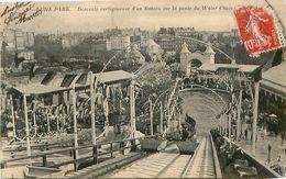 Cpa PARIS - LUNA PARK - Descente Vertigineuse D'un Bâteau Sur La Pente Du Water Chute - Distretto: 17