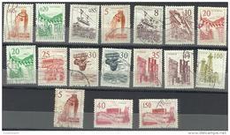 YUS01001 Yugoslavia 1958 Selection Of 17 Stamps Definitives  / USED - 1945-1992 Socialist Federal Republic Of Yugoslavia