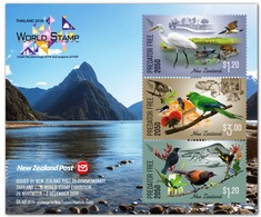New Zealand 2018 MS MNH Bangkok  Exhibition Miniature Sheet  Bird  Birds Oiseaux Oiseau - Altri
