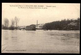 51 - La Crue à CHALONS SUR MARNE (Janvier 1910) - La Marne Et La Maison D'un Tireur De Grève - Châlons-sur-Marne