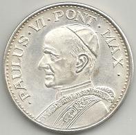 Vaticano, Roma Anno Santo 1975, Papa Paolo VI, Ae. Ag. 15 Gr. 3,5 Cm. - Gettoni E Medaglie
