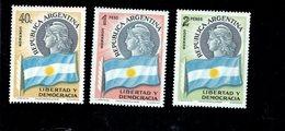 769125023 1958 SCOTT 673 674 675  POSTFRIS  MINT NEVER HINGED EINWANDFREI  (XX) SYMBOLS OF THE REPUBLIC - Argentinien