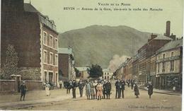 REVIN : Avenue De La Gare, Vis à Vis La Roche Des Menschs - RARE CPA COLORISEE - Cachet De La Poste 1910 - Revin