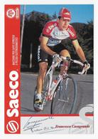 CARTE CYCLISME FRANCESCO CASAGRANDE SIGNEE TEAM SAECO 1996 - Ciclismo