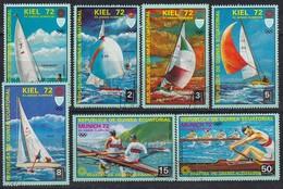 1972 MÜNCHEN - Äquat.Guinea  - MiNr: 98-104 Kiel Komplett   Used - Sommer 1972: München