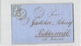 16154 01  HELVETIA AARAU 1867 - 1862-1881 Sitted Helvetia (perforates)