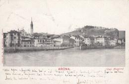 ARONA-NOVARA-LAGO MAGGIORE-CARTOLINA VIAGGIATA IL 10-9-1902 - Novara