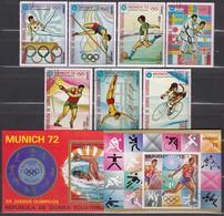 1972 MÜNCHEN - Äquat.Guinea  - MiNr: 108-114 Komplett + Block 17 Und 18   Used - Sommer 1972: München