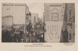 JUDAICA JEWISH.JUIF.   MAROC MARRAKECH UNE RUE  DU MELLAH PRES DE LA PORTE DE LA MEDINA - Judaisme