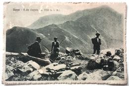 TOSCANA – LUCCA – BARGA - SULLA CACIAIA  Formato Piccolo – Viaggiata Nel 1917  Animata – Tracce D'uso - Condizioni Buone - Lucca