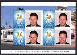 Australia Australië 2006 Sport XVIII Commonwealth Games Melbourne Prestige Bookletpage St.Kilda Personal Stamp - Francobolli