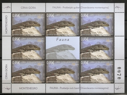 MONTENEGRO 2019,FAUNA,ROCK LIZARD,DINAROLACERTA MONTENEGRINA,REPTILES,,SHEET,MNH - Montenegro