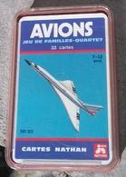 """JEU De 32 CARTES """" AVIONS """", © éd. Nathan 1977. - Group Games, Parlour Games"""