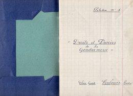 VP14.944 - MILITARIA - Manuscrit De 90 Pages - Service Dans La Gendarmerie - Elève Garde : FOULQUIER André - Police & Gendarmerie