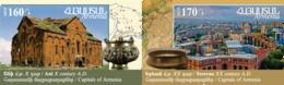 Armenia Arménie Armenien 2017 Mih 1114-1115 Armenian History. Historical Capitals Of Armenia. Ani, Yerevan Erevan MNH** - Armenia