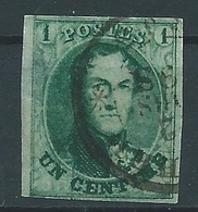 Nr 9 Oblitéré Et Margé - 1858-1862 Medallones (9/12)
