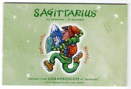 Australia 2008 Prestige Booklet Zodiac Sagittarius Sterrenbeeld Boogschutter - Astrology