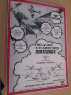 DIV415 : Clipping PAGE DE REVUE TINTIN ANNEES 60/70 EN N&B : PUBLICITE POUR LES MAQUETTES MATCHBOX - Avions