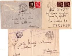 ITALIA  Storia Postale   Lotto Di 3 Buste Di Posta Militare125 + 179 +260 - 1900-44 Vittorio Emanuele III