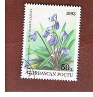 AZERBAIJAN   - SG 106 -  1993 FLOWERS: PUSHKINIA SCILLOIDES -   USED - Azerbaïjan