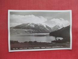 RPPC  Wallowa Lake   Not Flat Card Has A Ripple   Oregon      Ref 3359 - United States