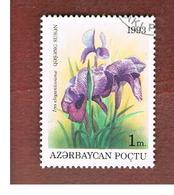 AZERBAIJAN   - SG 107 -  1993 FLOWERS: IRIS ELEGANTISSIMA  -   USED - Azerbaïjan