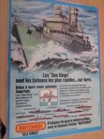 DIV415 : Clipping PAGE DE REVUE TINTIN ANNEES 60/70 EN COULEURS : PUBLICITE POUR MODELES REDUITS MATCHBOX - Bateaux
