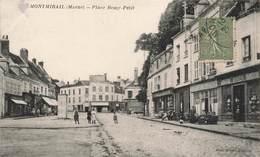 51 Montmirail Place Remy Petit Cpa Carte Animée Boutiques Commerces - Montmirail