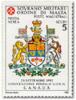 1993 - Sovrano Militare Ordine Di Malta PA 48 Stemma Del Canada - Francobolli