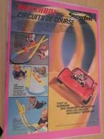 DIV415 : Clipping PAGE DE REVUE TINTIN ANNEES 60/70 EN COULEURS : PUBLICITE POUR CIRCUITS AUTO MATCHBOX - Circuits Automobiles