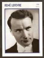 PORTRAIT DE STAR 1935 FRANCE - ACTEUR RENE LEFEVRE - ACTOR CINEMA FILM - Photographs