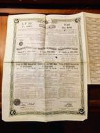 GOUVERNEMENT   IMPÉRIAL  OTTOMAN  EMPRUNT  4%  1901 - 1905 ----- Obligation  De  500 Frs - Shareholdings