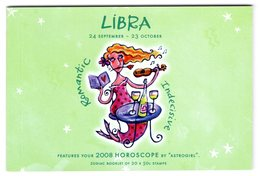 Australia 2008 Prestige Booklet Zodiac Libra Sterrenbeeld Weegschaal - Astrology