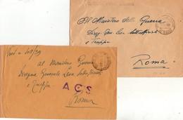 ITALIA  Storia Postale   Lotto Di 2 Buste Di Posta Militare  3400 - 1900-44 Vittorio Emanuele III