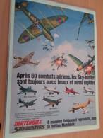 DIV415 : Clipping PAGE DE REVUE TINTIN ANNEES 60/70 EN COULEURS : MODELES REDUITS MATCHBOX DISCO-GIRLS - Avions & Hélicoptères