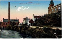 COTTBUS - Brandenburg - Elektrisches Werk,Amts- Und Landgericht - Feldpostkarte - Stempel Soldatenheim Cottbus -Feldpost - Cottbus
