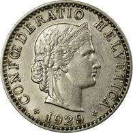 Monnaie, Suisse, 20 Rappen, 1929, Bern, TTB, Nickel, KM:29 - Suisse