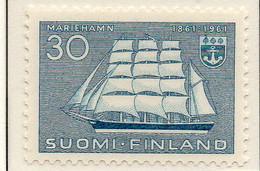 """PIA - FINL - 1961  : Centenario Della Città Di Mariehamn - Trealberi Del Museo """"Pommem"""" -  (Yv 507) - Maritime"""