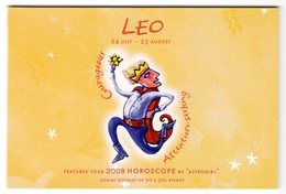 Australia 2008 Prestige Booklet Zodiac Leo Sterrenbeeld Leeuw Lion - Astrology