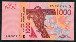 W.A.S. P415Dq 1000 FRANCS (20)17  Date = 2017    UNC. - West African States