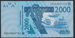 W.A.S. P616Hs 2000 FRANCS (20)19  Date = 2019    UNC. - West African States