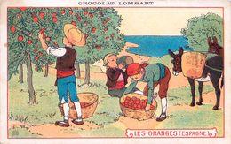 Cpa Chocolat LOMBART - Les Oranges ( Espagne ) - Publicité